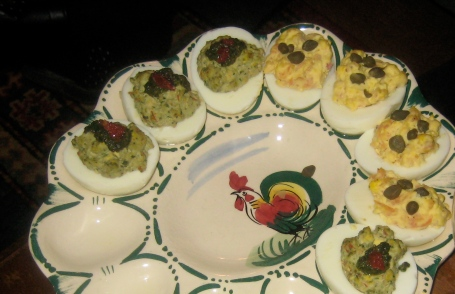 deviled eggs at al dente pasta party