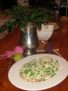Al Dente Pasta with Ham and Peas