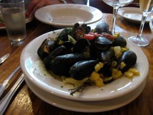 Mussels at La Sirene