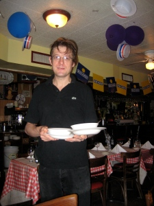 Jean-Christophe, a really nice French waiter!