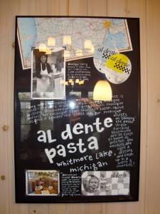 "Al Dente ""history"" at Zingerman's Roadhouse"