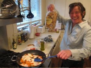 Judy Harvey and Al Dente Wild Mushroom Fettuccine