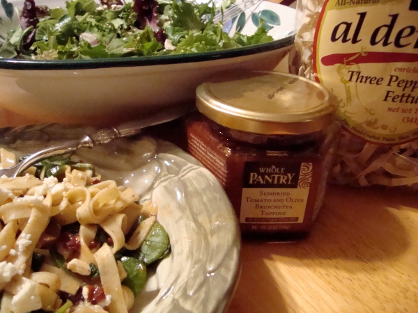 Al Dente Pasta Paired up with Whole Pantry Bruscetta Topping