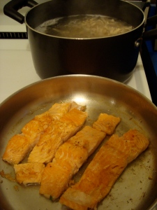 cook seasoned salmon